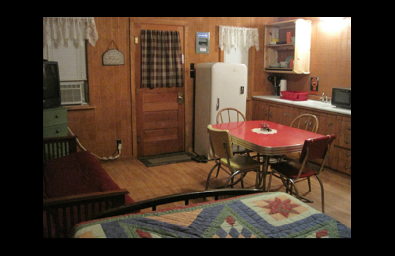 Cabin living room at Brumley's Resort.