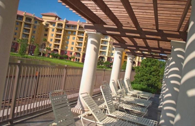 Porch view of Wyndham Bonnet Creek Resort.