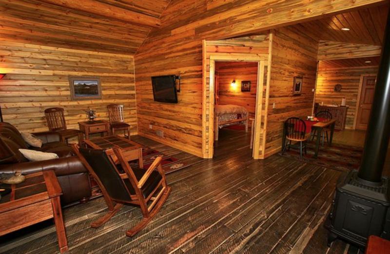 Guest living room at Quinn's Hot Springs Resort