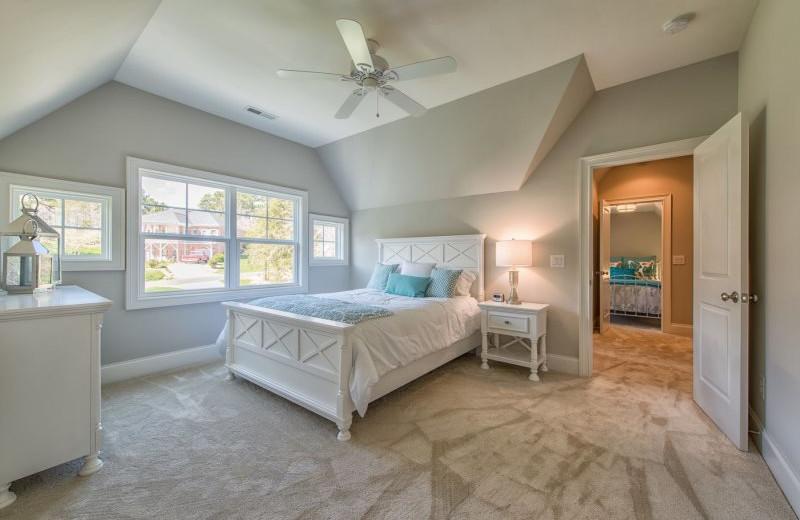 Rental bedroom at StayLakeNorman Luxury Vacation Rentals.