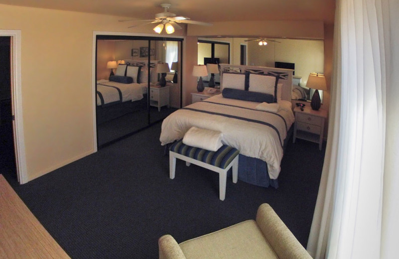 Master Bedroom of a Two Bedroom Unit at the Southern California Beach Club