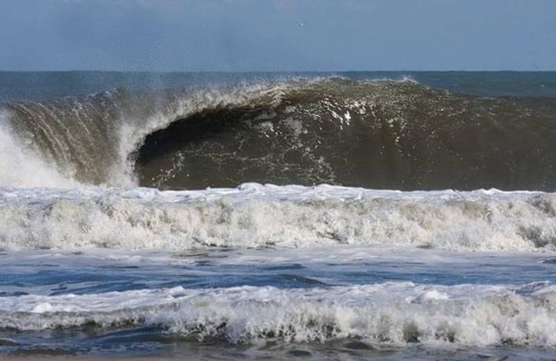 Crashing waves near Outer Banks Inn.