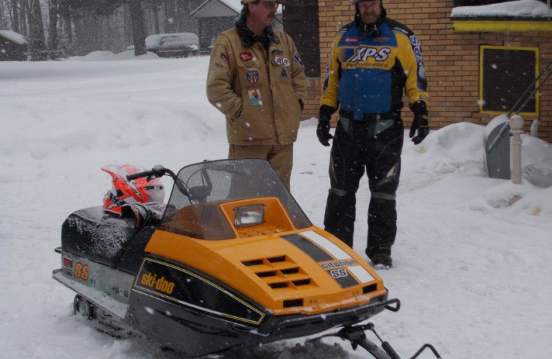 Snowmobile at Idle Hour Resort.