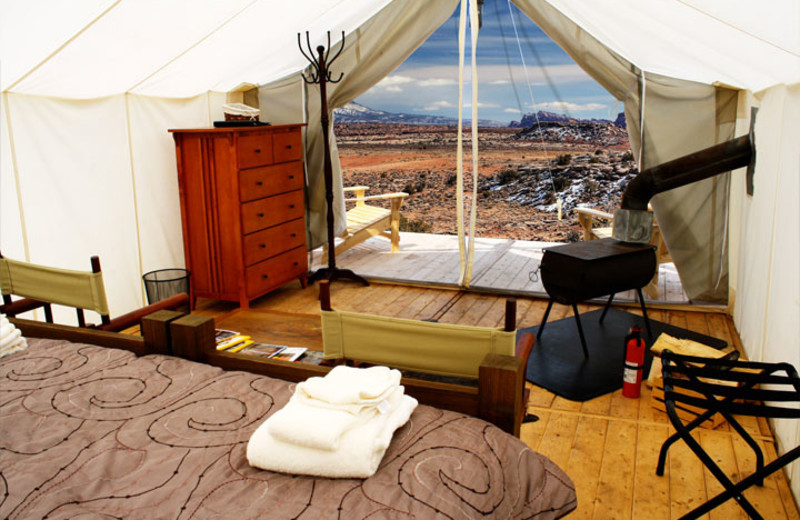 Tent Interior at Moab Under Canvas