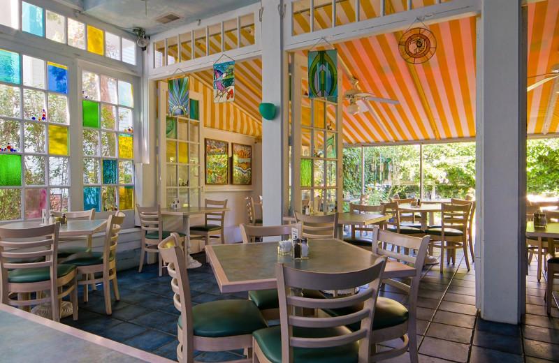 Dining at Carroll Villa.