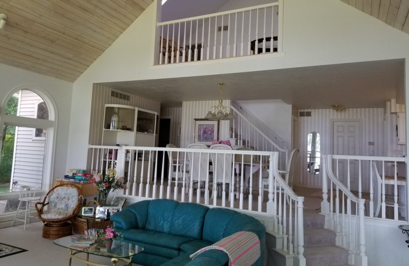 Rental interior at Door County Vacancies.