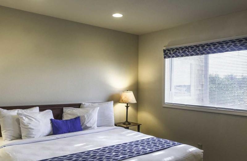 Guest bedroom at Lighthouse Oceanfront Resort.