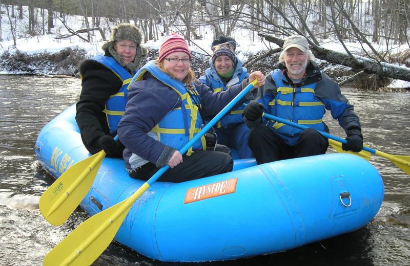 Winter rafting at Big Bear Adventures.