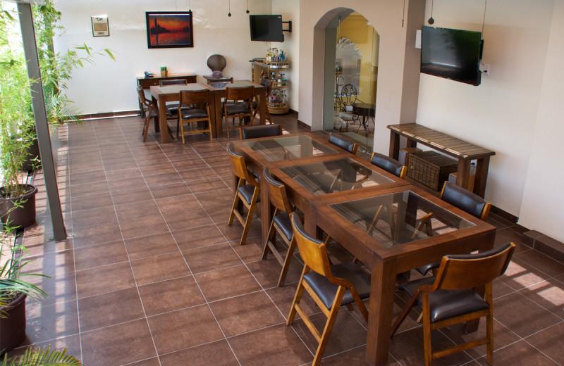 Dining at Raintree's Casa San Felipe Hostal Oaxaca.