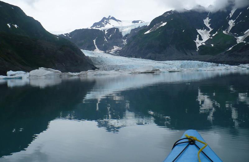 Glacier at Kenai Fjords Glacier Lodge.