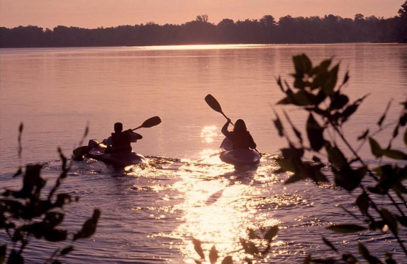 Kayaking at The Briars.
