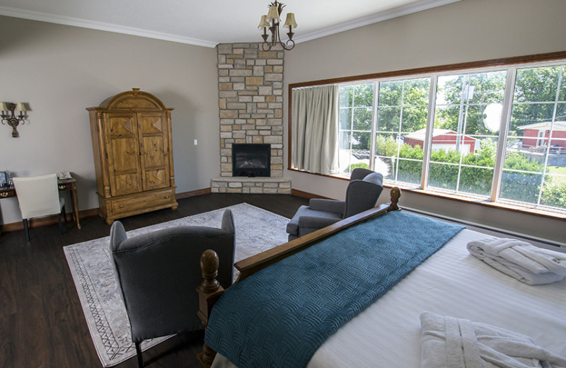 Guest room at Christie's Mill Inn & Spa.