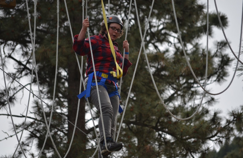 Adventure ropes at RockRidge Canyon Camp & Conference Center.