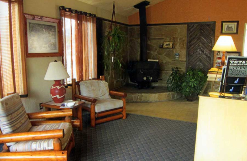 Motel lobby at Color Country Motel.