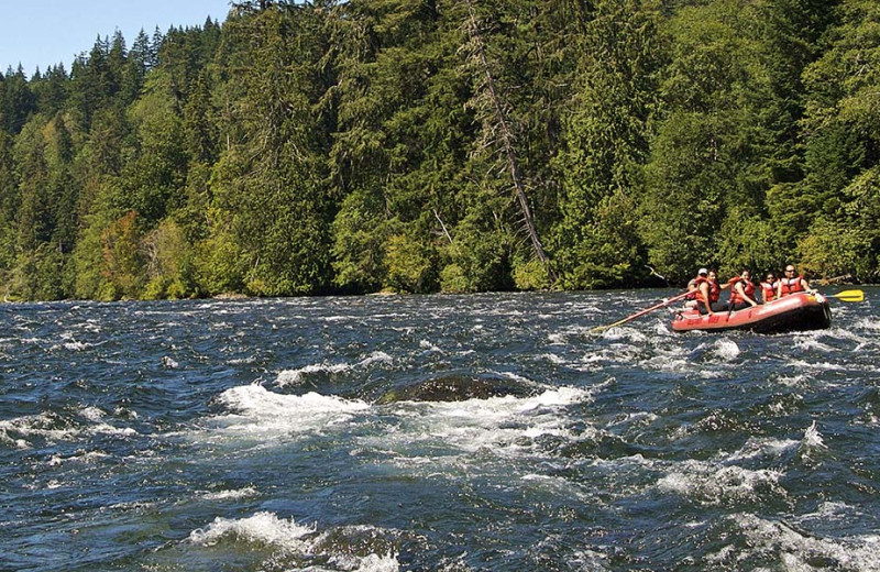 Rafting at Sonora Resort and Conference Centre, Canada.