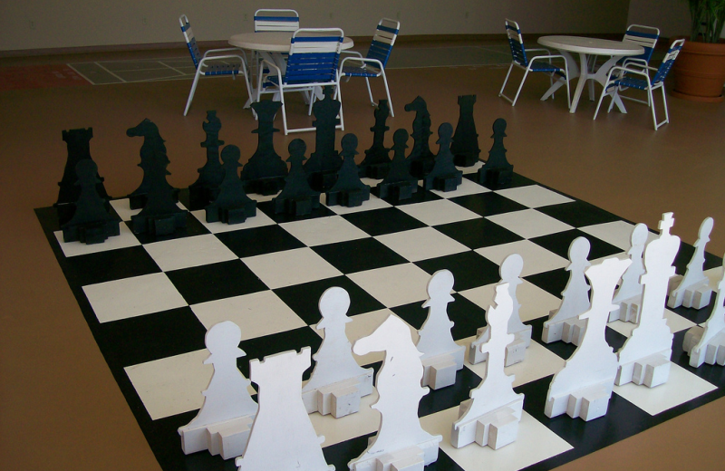 Giant chess at Grand Hotel & Spa.