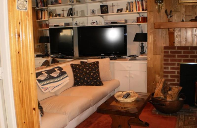 Vacation rental living room at Village Condominium.