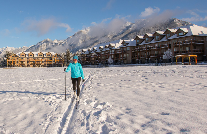 Skiing at Bighorn Meadows Resort.