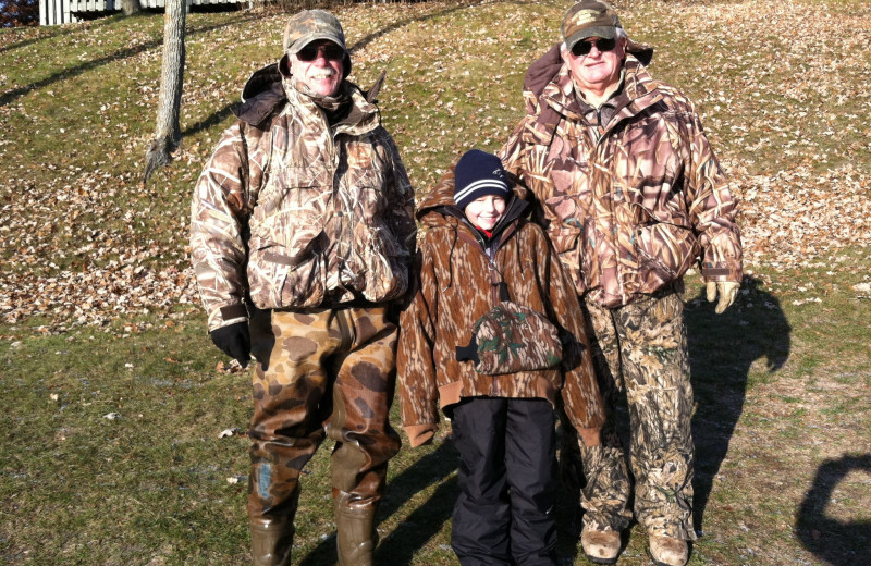 Duck hunting group at Finn'n Feather Resort.