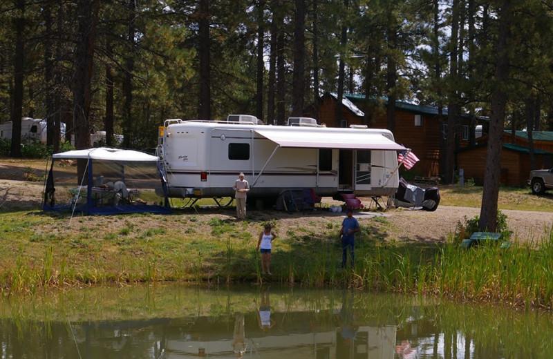 RV camp at Echo Basin Cabin And RV Resort.