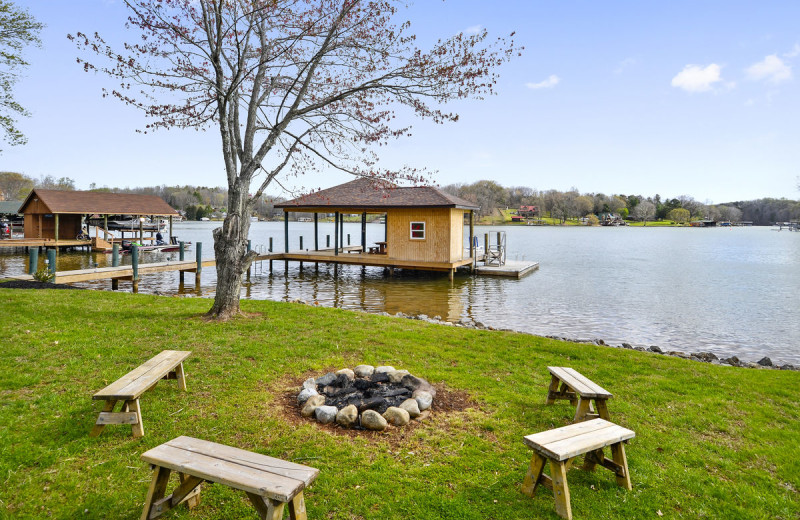 Rental fire pit at Premier Vacation Rentals @ Smith Mountain Lake.