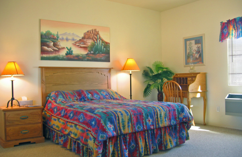 Guest room at Stagecoach Trails Guest Ranch.