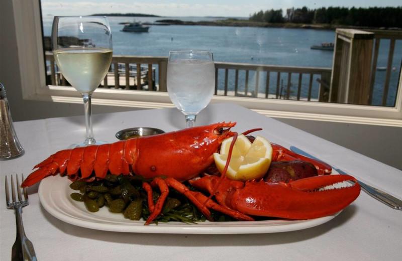 Fresh lobster at Sebasco Harbor Resort.