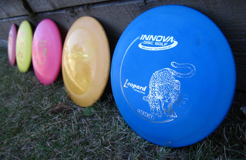 Discs at Red Tree Lodge.