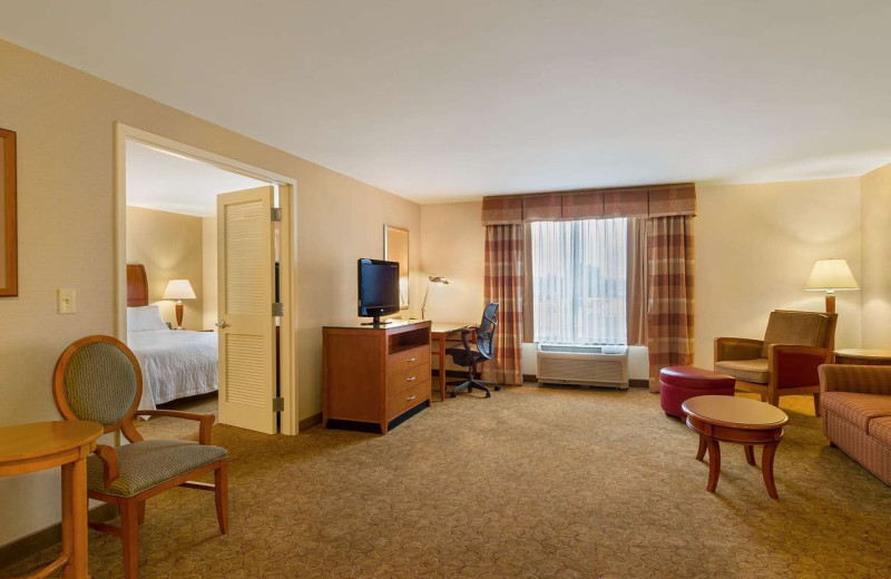 Guest room at Hilton Garden Inn Cleveland East/Mayfield Village.