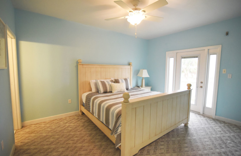 Rental bedroom at Lucky Bird Vacations.