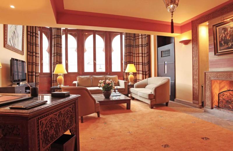 Guest room at La Maison Arabe.