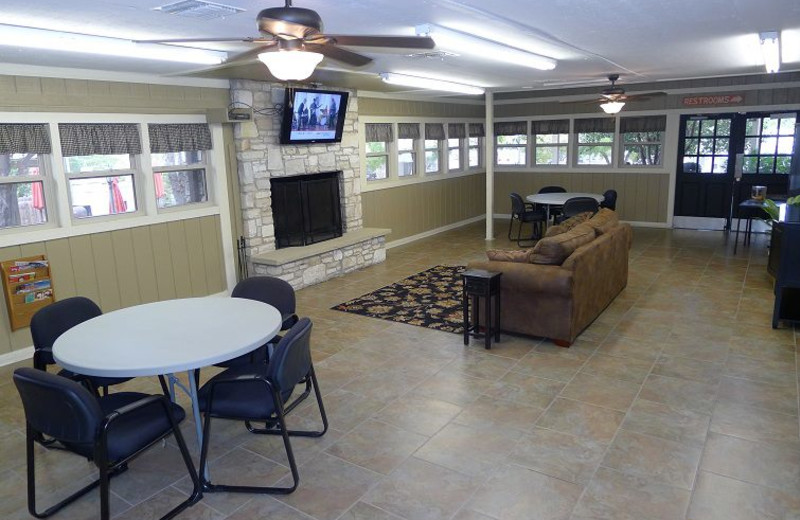 Event center at Hill Country RV Resort & Cottage Rentals.