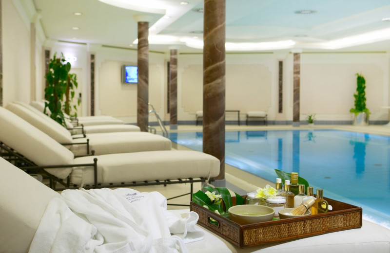Indoor pool at Hotel Baltschug Kempinski - Moscow.