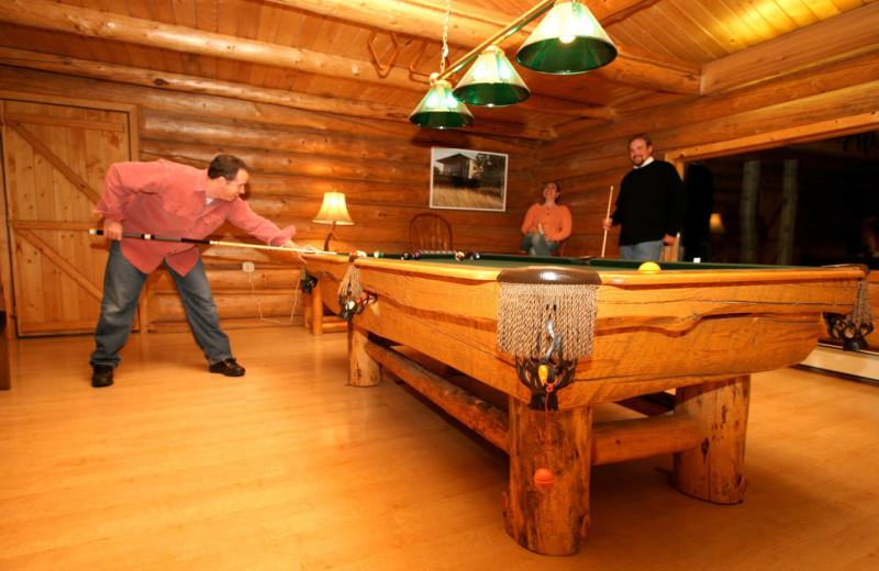 Billiard at Alaska Heavenly Lodge.