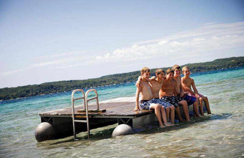 Water activities at Chimney Corners Resort.