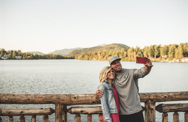 Couple at Golden Arrow Lakeside Resort.