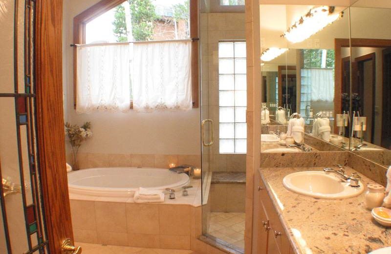 Bathroom at 706A Forest Road - Vail Management Company.