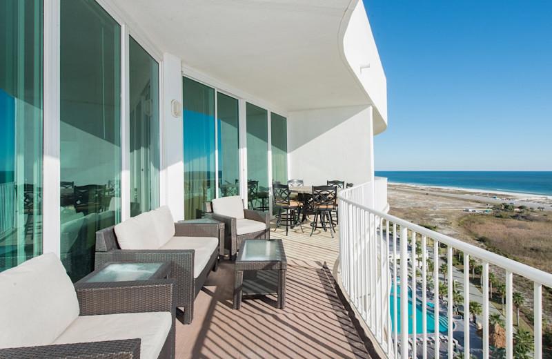 Rental balcony at Sunset Properties.