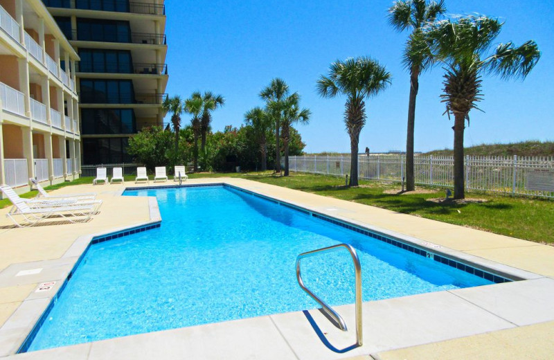 Rental pool at Beachfront Rentals.