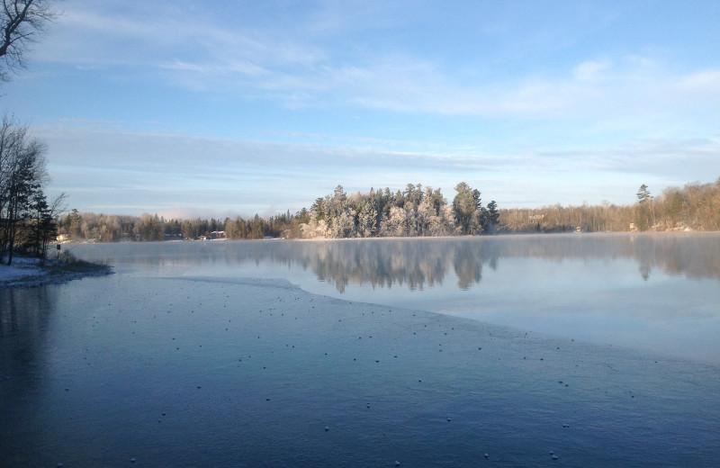 Winter at Hanging Horn Lakeside Resort.