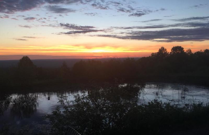 Sunset at Timberview Resort.