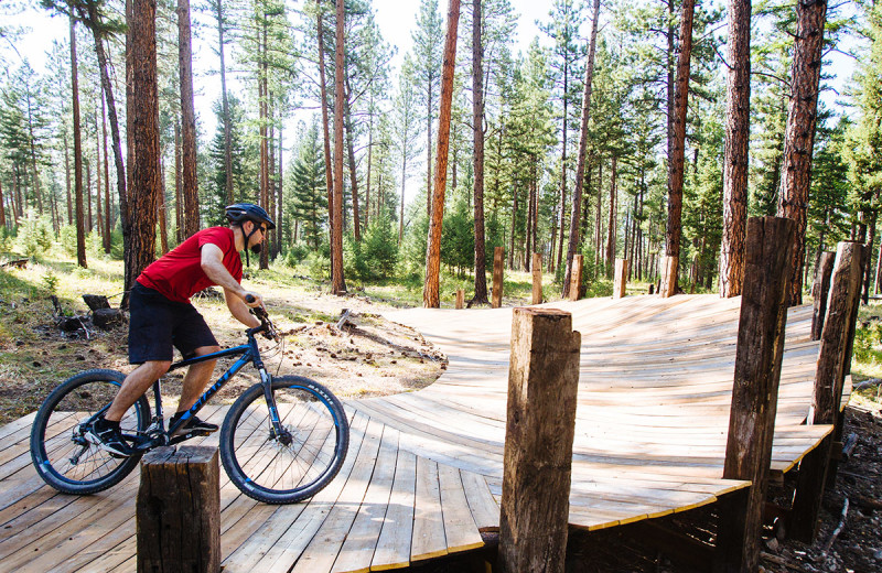 Bike course at The Resort at Paws Up.