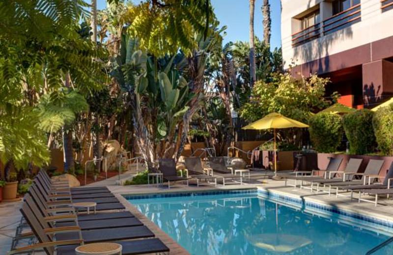 Outdoor pool at Marina del Rey Marriott.
