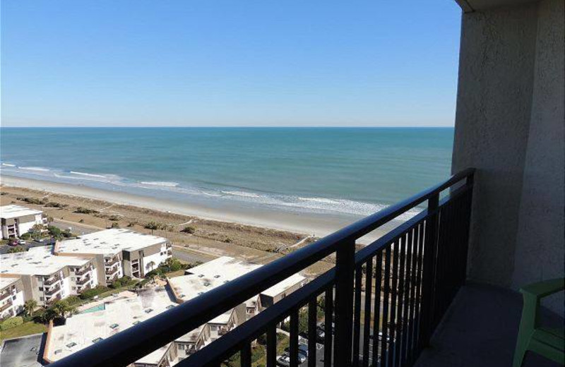 Balcony view at Myrtle Beach Vacation Rentals.