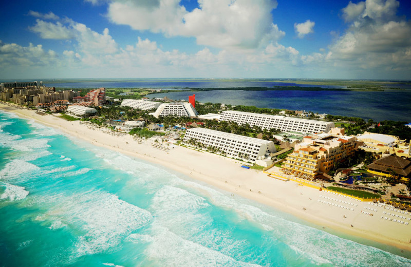 Aerial view of Oasis Cancun.