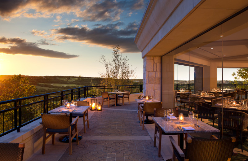 Patio dining at La Cantera Resort & Spa.