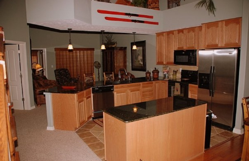 Guest kitchen at Thousand Hills Golf Resort.