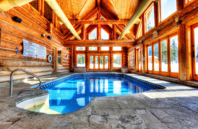 Indoor pool at Fiddler Lake Resort.