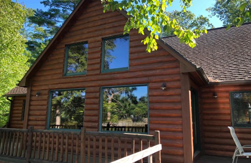 Cabin exterior at Riverbay Adventure Inn.