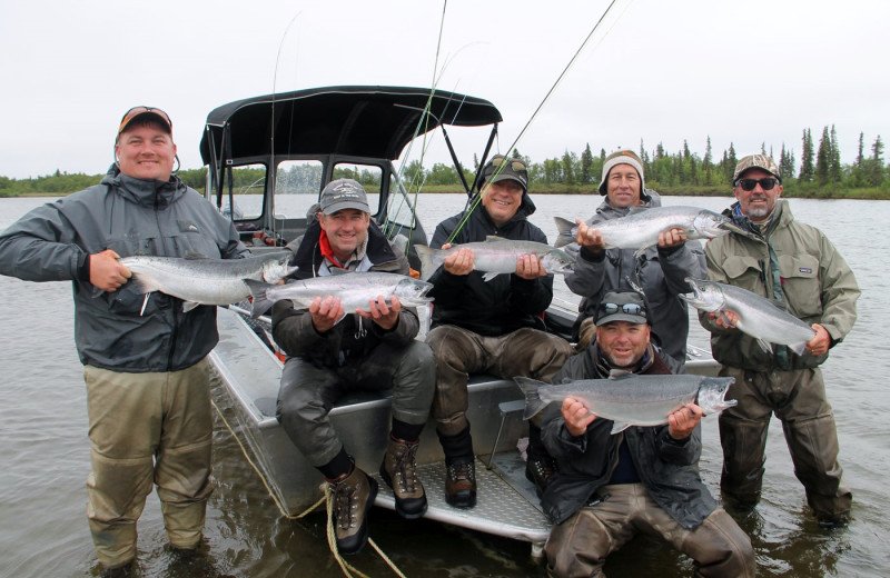 Group fishing at Alaska Trophy Adventures Lodge.